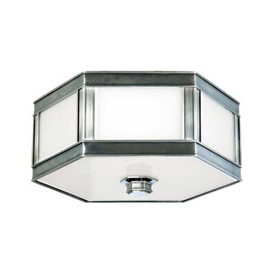 Cashion 1-Light Flush Mount Finish: Historic Nickel