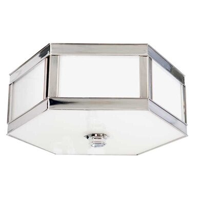 Cashion 2-Light Flush Mount Finish: Polished Nickel