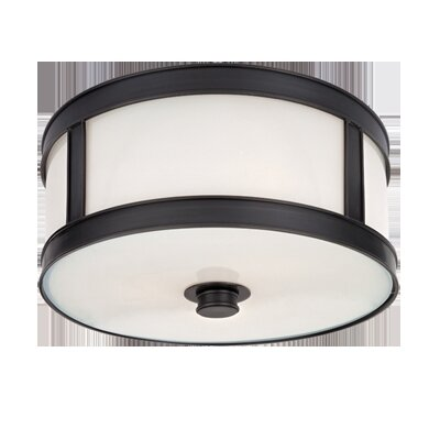 Hoeppner 1-Light Flush Mount Finish: Old Bronze