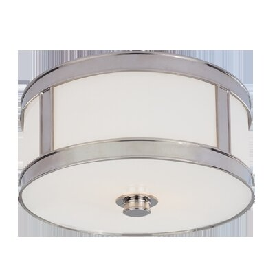 Patterson 1-Light Flush Mount Finish: Polished Nickel