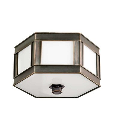 Nassau 2-Light Flush Mount Finish: Old Bronze