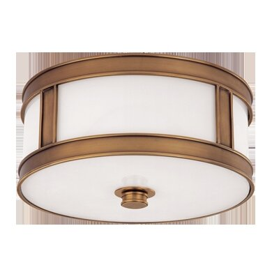 Hoeppner 2-Light Flush Mount Finish: Aged Brass