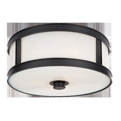 Hoeppner 2-Light Flush Mount Finish: Old Bronze