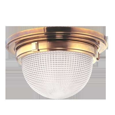 Hesson 3-Light Flush Mount Finish: Aged Brass