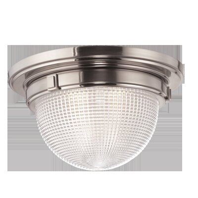 Hesson 3-Light Flush Mount Finish: Satin Nickel