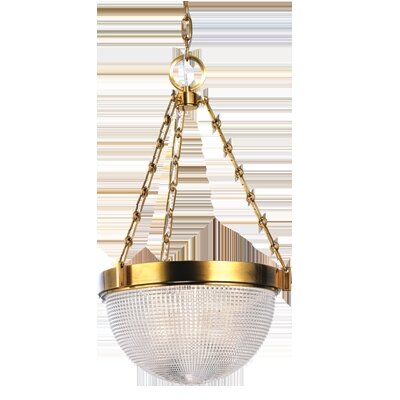 Hesson 2-Light Inverted Pendant Finish: Aged Brass