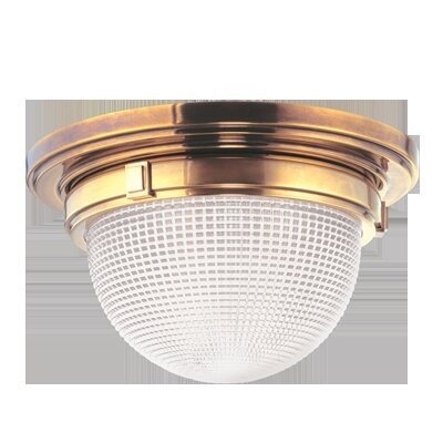 Hesson 2-Light Flush Mount Finish: Aged Brass