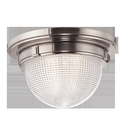 Hesson 2-Light Flush Mount Finish: Satin Nickel