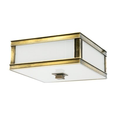 Destanee 3-Light Flush Mount Finish: Aged Brass