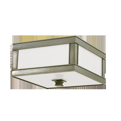 Preston 3-Light Flush Mount Finish: Historic Nickel