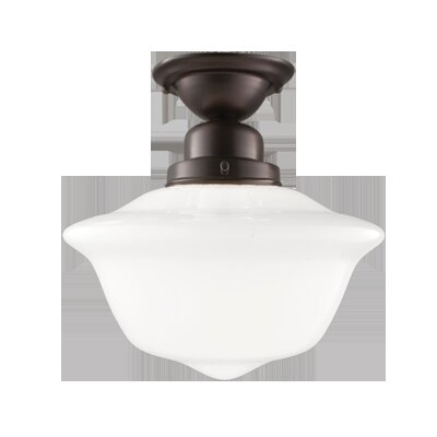 Karen 1-Light Semi-Flush Mount Finish: Old Bronze