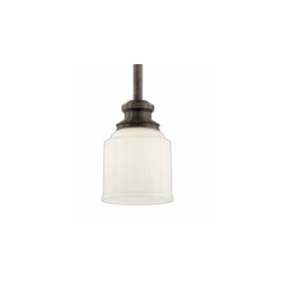 Windham 1-Light Mini Pendant Finish: Polished Nickel, Size: 5