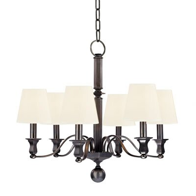 Elbert 6-Light Shaded Chandelier Finish: Old Bronze