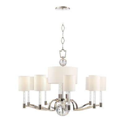 Marion 12-Light Shaded Chandelier