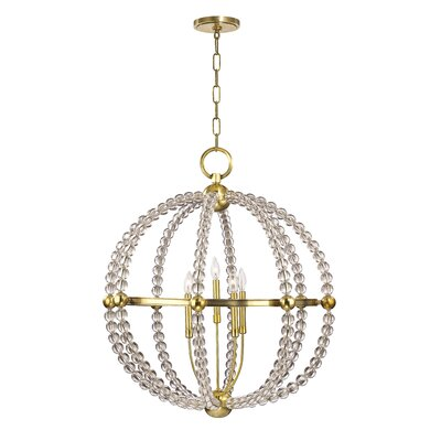 Lainey 5-Light Globe Pendant Finish: Aged Brass