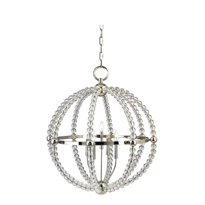 Lainey 5-Light Globe Pendant Finish: Polished Nickel