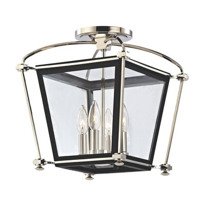 Edwards 4-Light Semi Flush Mount Finish: Polished Nickel