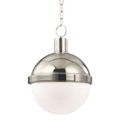 Kenny 1-Light Pendant Finish: Satin Nickel, Size: Large