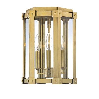 Roxbury 3-Light Semi Flush Mount Finish: Aged Brass