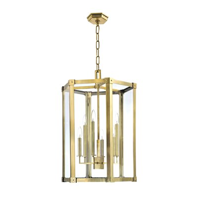 Roxbury 6-Light Foyer Pendant Finish: Aged Brass, Size: Large