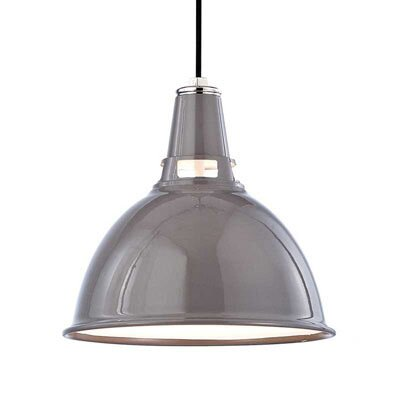 Dinis 1-Light Inverted Pendant Size: Small, Finish: Gray Polished Nickel