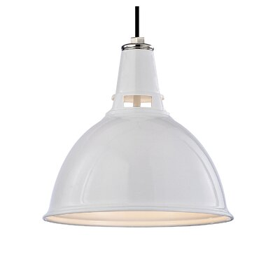 Lydney 1-Light Inverted Pendant Size: Small, Finish: White Polished Nickel