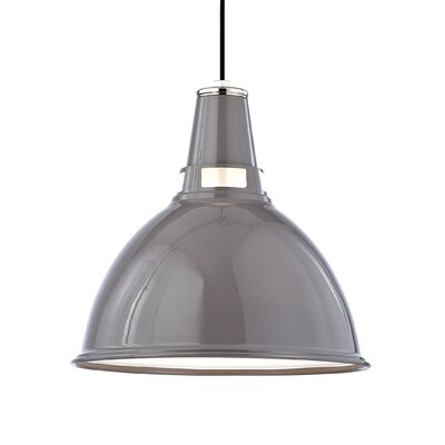 Dinis 1-Light Inverted Pendant Size: Medium, Finish: Gray Polished Nickel