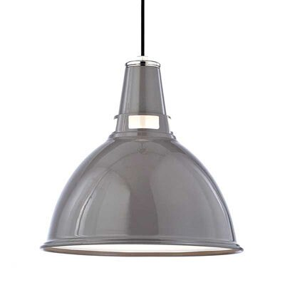 Dinis 1-Light Inverted Pendant Size: Large, Finish: Gray Polished Nickel