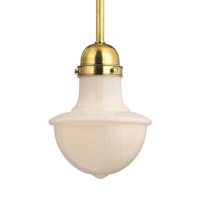 Branford 1 Light Pendant Finish: Aged Brass, Size: Medium