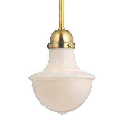 Branford 1 Light Pendant Finish: Aged Brass, Size: Large