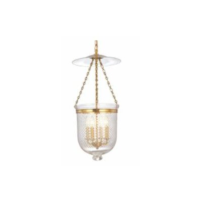 Williamsburg Hampton 4-Light Foyer Pendant Finish/Glass: Historic Nickel/C2