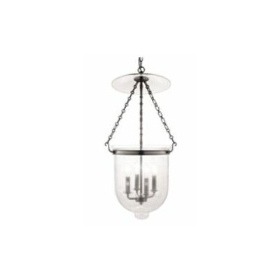Williamsburg Hampton 4-Light Foyer Pendant Finish/Glass: Historic Nickel/C3