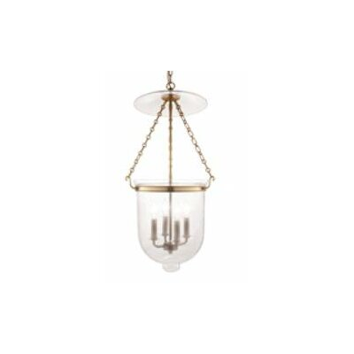 Williamsburg Hampton 4-Light Foyer Pendant Finish/Glass: Old Bronze/C1