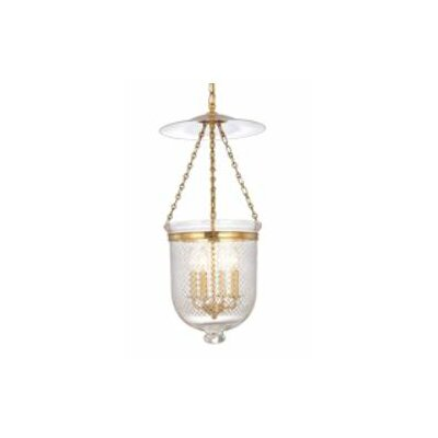 Williamsburg Hampton 4-Light Foyer Pendant Finish/Glass: Old Bronze/C2
