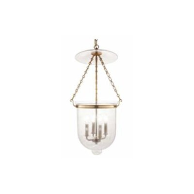 Williamsburg Hampton 4-Light Foyer Pendant Finish/Glass: Old Bronze/C3