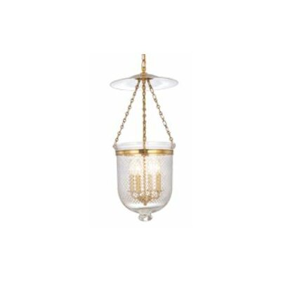 Williamsburg Hampton 4-Light Foyer Pendant Finish/Glass: Polished Nickel/C2