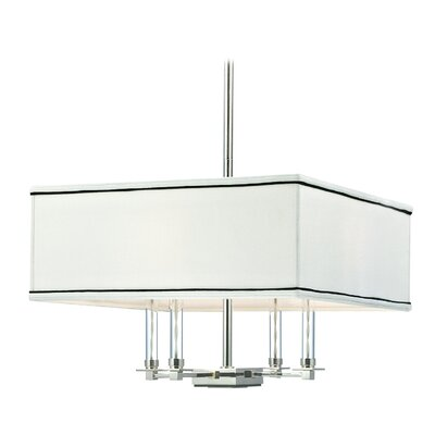 Marcia 4-Light Shaded Chandelier Size: Medium, Finish: Polished Nickel