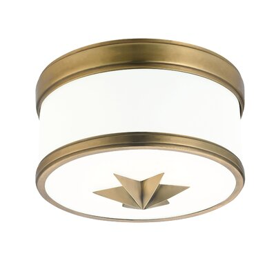 Kelsie 1-Light Flush Mount Finish: Aged Brass