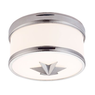 Kelsie 1-Light Flush Mount Finish: Polished Chrome