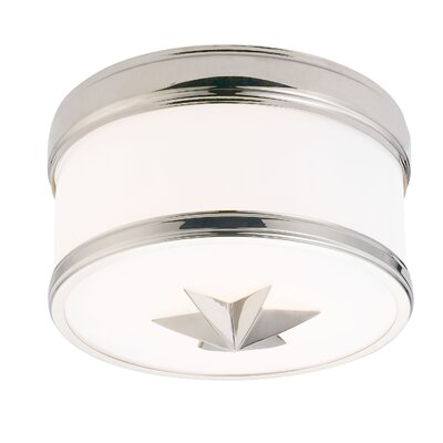 Kelsie 1-Light Flush Mount Finish: Polished Nickel
