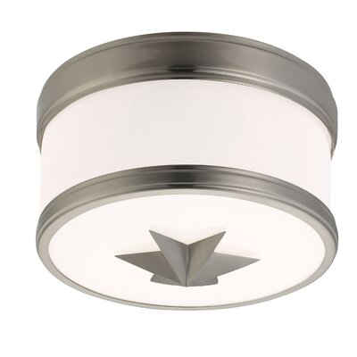 Kelsie 1-Light Flush Mount Finish: Satin Nickel
