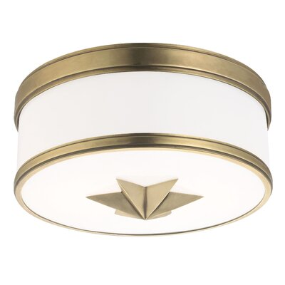 Kelsie 2-Light Flush Mount Finish: Aged Brass