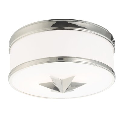 Kelsie 2-Light Flush Mount Finish: Polished Nickel