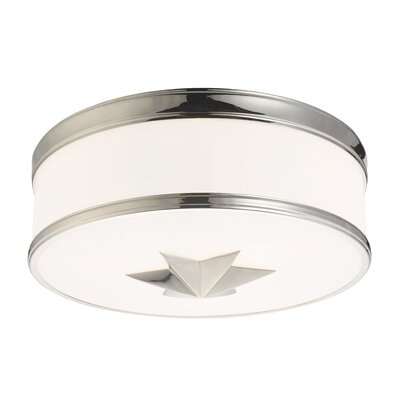 Kelsie 3-Light Flush Mount Finish: Polished Nickel