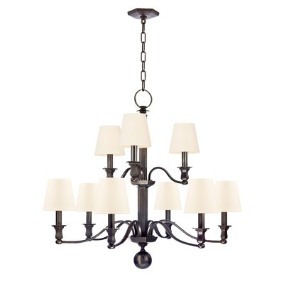 Elbert 9-Light Shaded Chandelier Finish: Old Bronze