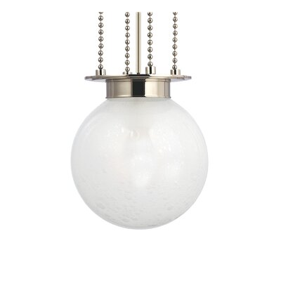 Blaine 1-Light Pendant Finish: Polished Nickel, Shade Color: Frosted