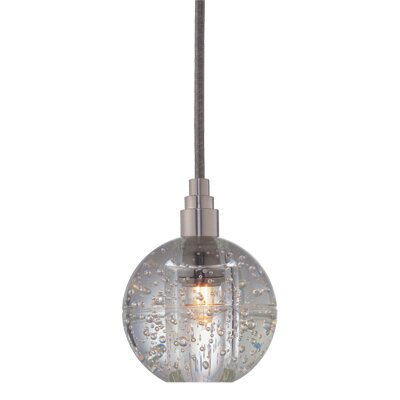 Naples 1-Light Pendant Finish: Satin Nickel, Shade Code: S-001
