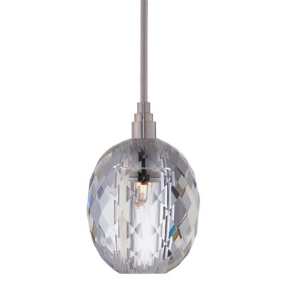 Naples 1-Light Pendant Shade Code: S-002, Finish: Satin Nickel
