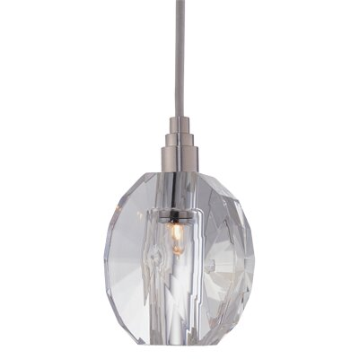 Naples 1-Light Pendant Shade Code: S-005, Finish: Satin Nickel