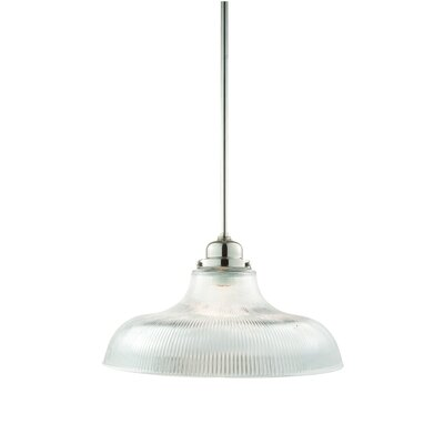 Karen 1-Light Pendant Shade Code: R15, Finish: Polished Nickel